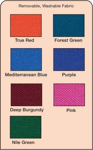 Removable, Washable Fabric True Red Forest Green Mediterranean Blue Purple Deep Burgundy Pink Nile Green