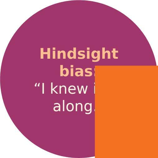 "Hindsight bias: ""I knew it all along."""