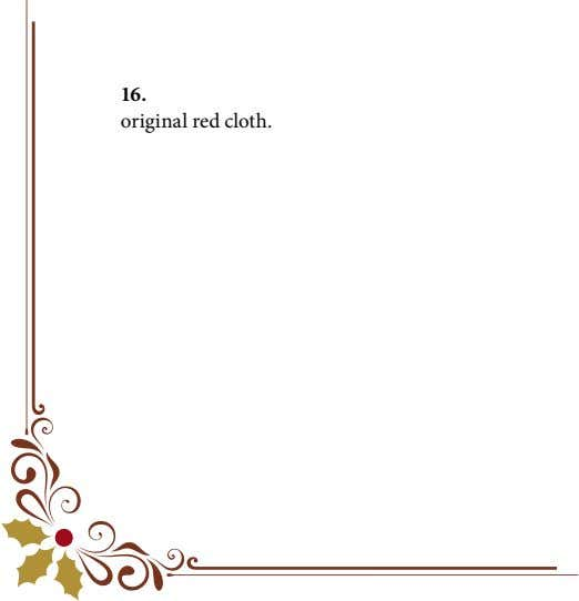 16. original red cloth.