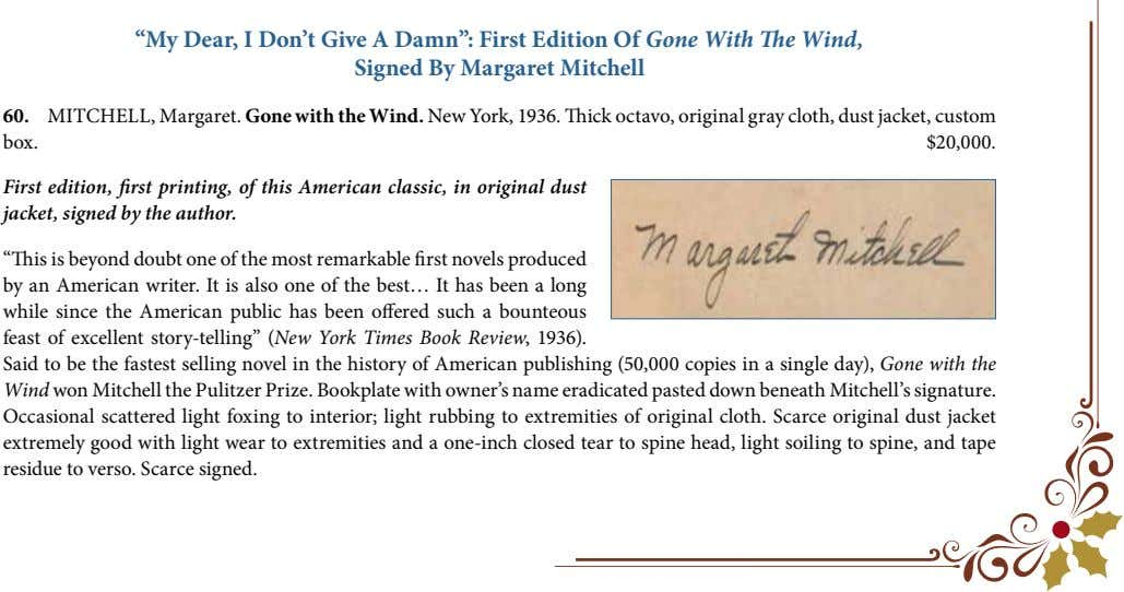 """My Dear, I Don't Give A Damn"": First Edition Of Gone With The Wind, Signed"
