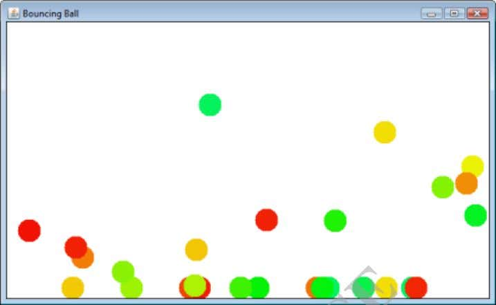 Output: Result: Thus the Python Program to simulate bouncing ball using Pygame is executed successfully and