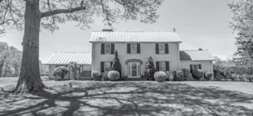 "90-AC on LEE'S RIDGE ""October Hill"" C. 1895 custom country house is privately situated on"