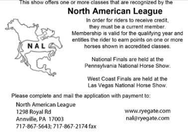 BEAMEMBER OF THEASSOCIATION. Senior Membership - $40.00 THE WARRENTON HORSE SHOW is operated in accordance with
