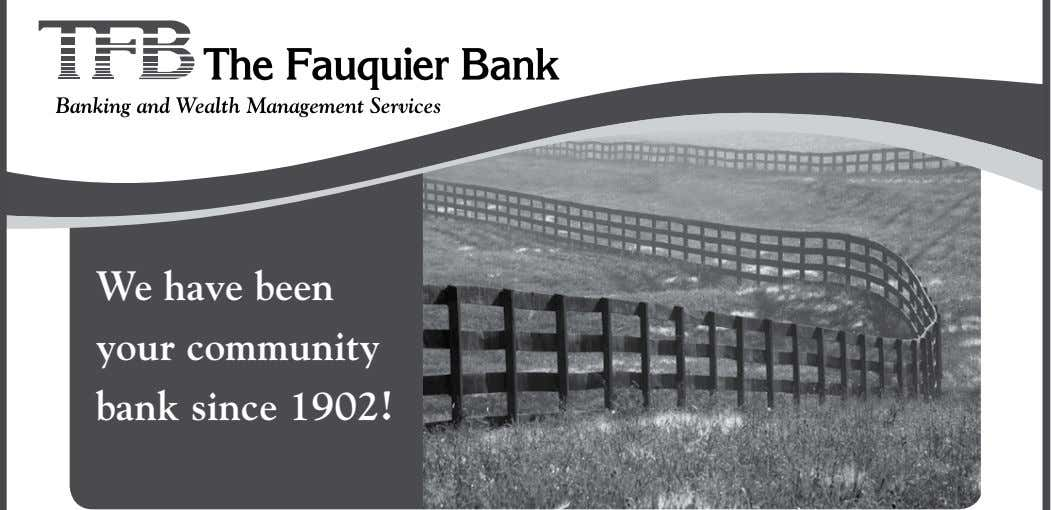 We have been your community bank since 1902!