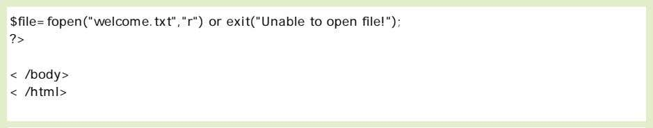 Closing a File The fclose() function is used to close an open file: Check End-of-file
