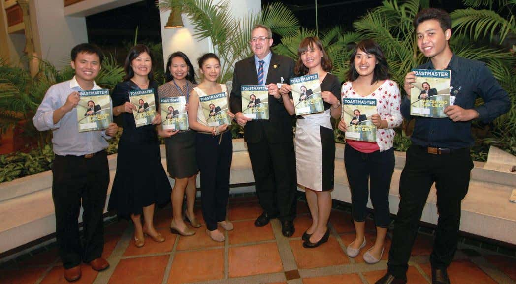 Members of the author's club, Capitol Toastmasters in Bangkok, Thailand, enjoy the benefits of belonging