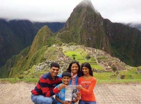 SNAPSHOT The Toastmasters family that travels together stays together. Posing near Machu Picchu in Peru are: