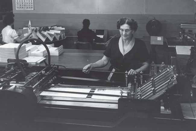 FROM THE ARCHIVES In 1957, this machine was used to fold printed documents at one
