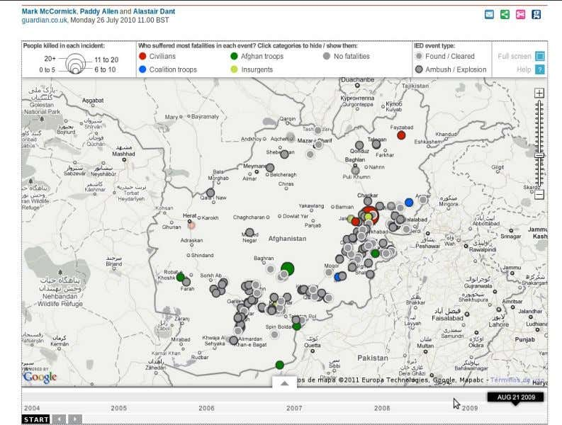 Periodismo digital como contenido / Data journalism Caso: The Guardian Wikileaks' Afghanistan war logs