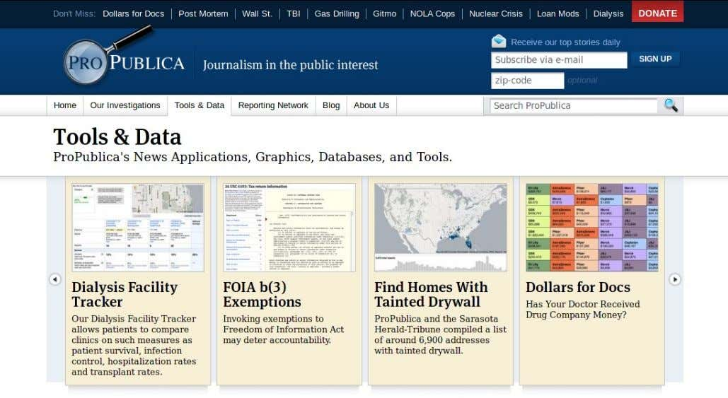 Periodismo digital como contenido / Data journalism Caso: ProPublica