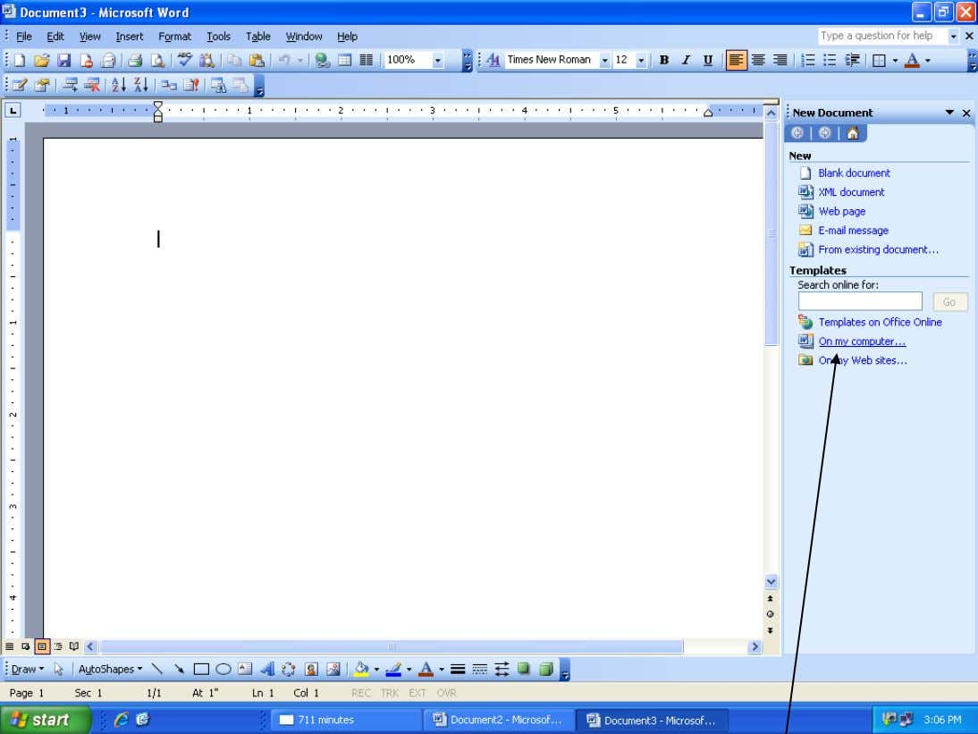 How to Create a Resume Using Microsoft Word cont… STEP 7: This is the menu that