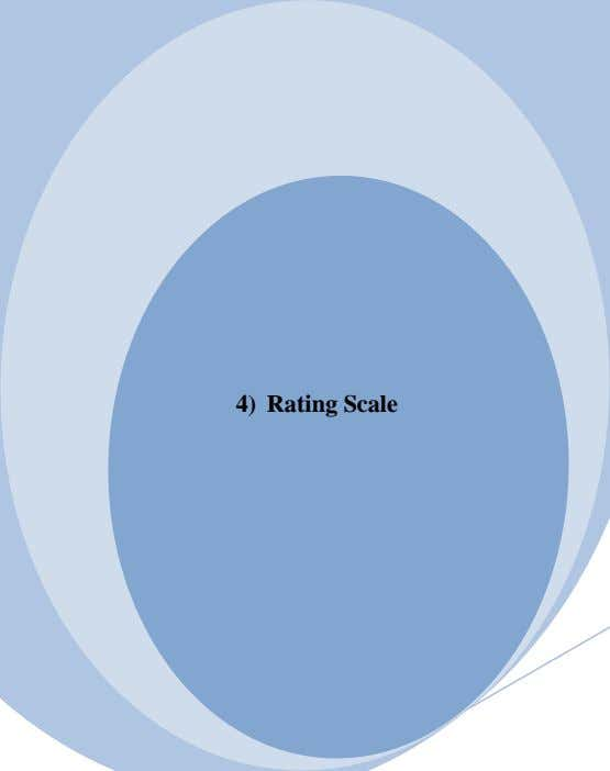 4) Rating Scale