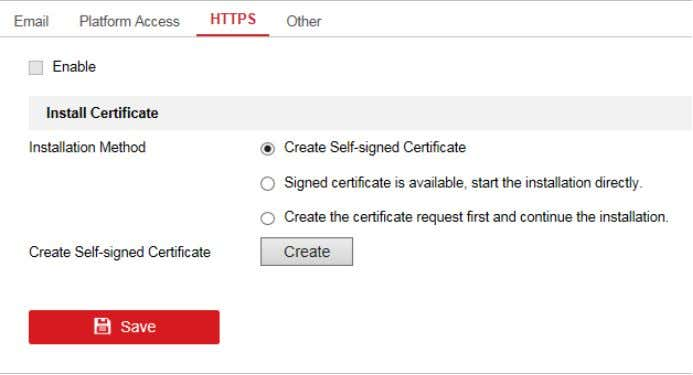 > HTTPS (from Web browser). Step 2 Check Enable. Figure 5-3 HTTPS Configuration Interface Step 3