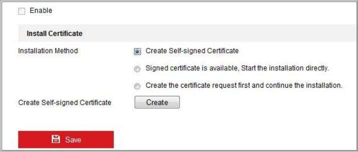 Network Security Guide Figure 5-4 Create Self-signed Certificate 3) Enter the country, host name/IP, validity and