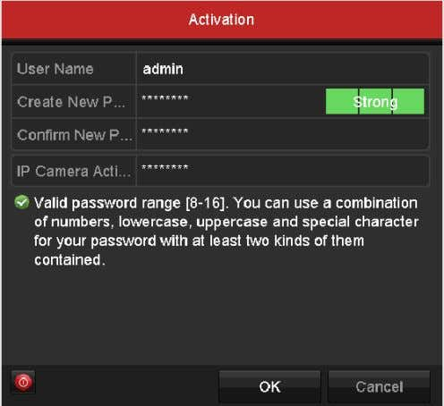 field of Create New Password and Confirm New Password . Figure 2-1 Set Admin Password We