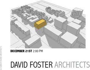 DECEMBER 21ST 2:00 PM DAVID FOSTER ARCHITECTS © DAVID FOSTER ARCHITECTS
