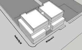 baseline scheme w/ ground floor commercial and apartments SCHEME 'B' Entry courtyard scheme w/ reduced massing
