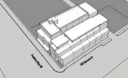 Entry courtyard scheme w/ reduced massing and corner retail SCHEME 'C' Mix of live-work, retail, and