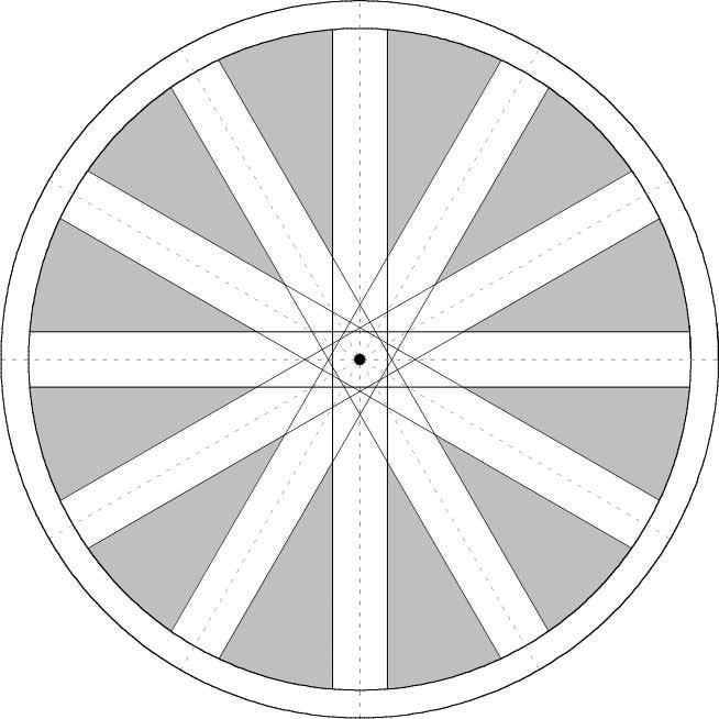 5 Figure 2 The shaded sectors are the locations of the center of a marble that