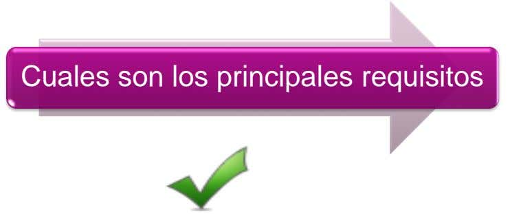 Cuales son los principales requisitos