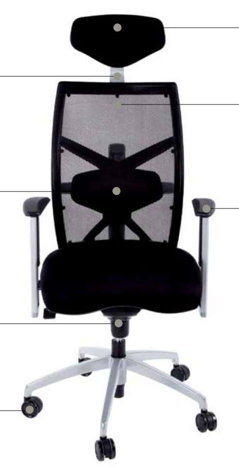 heAdReST Free-tilting cushioned headrest, can be set at any position forward or back according to