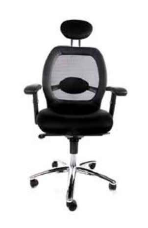 Oc00050BL mATeRiAL ∙ Very comfortable mesh seat ∙ Comfortable height adjustable armrests in faux leather ∙