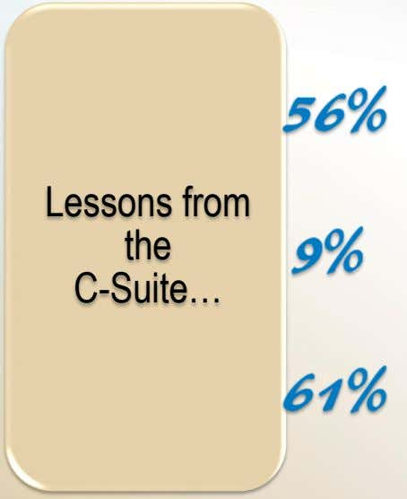 Lessons from the C-Suite…