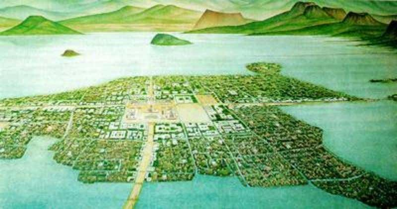 Lake Texcoco  In 1325, the Aztecs settled down at Lake Texcoco and they founded their