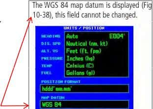 of the aircraft and the waypoint or flight plan track. • In most aviation GPS Receivers