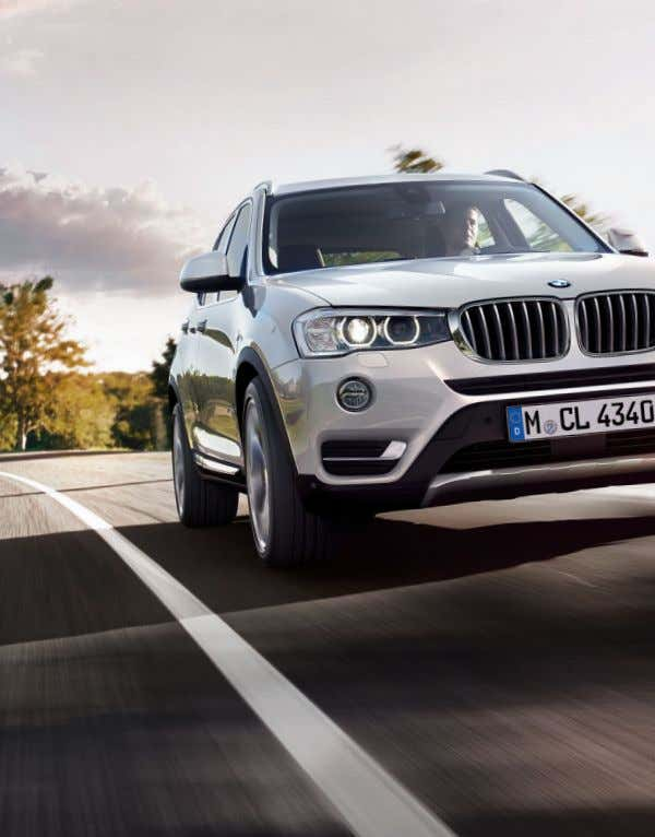 simultaneously impressive efficiency – and fascinating design that emphasises the athletic character of the BMW X.