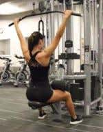 5 Sets of Assisted Pull Ups 45-60 second between each set Lat Pull Down Drop Set