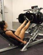 Squat followed by 15 Jumping Squats 4 Sets Moderate Weight Leg Press Start with your feet