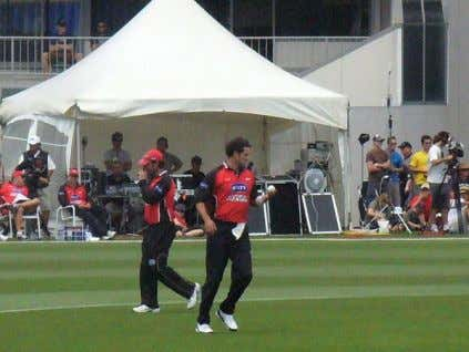 2 5 NOTES Cairns bowling for the Canterbury Wizards in 2006 against the West Indies on