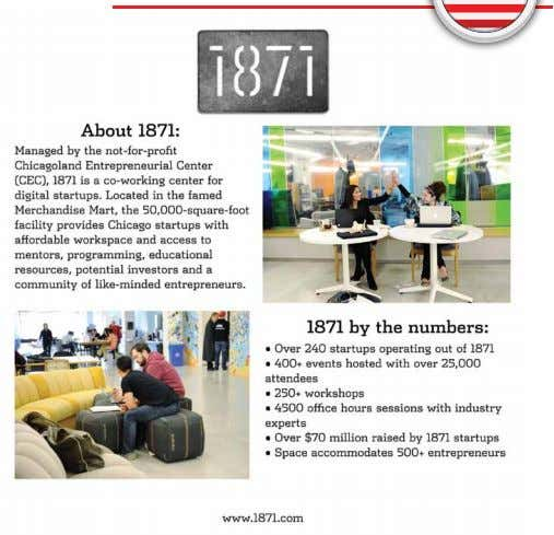 June 9-20, 2014 Chicago, IL & Washington, DC 1871 The GIST Entrepreneurship Journey in Chicago is
