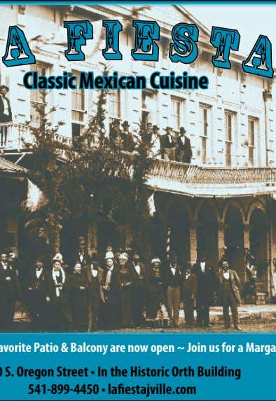 I Classic Mexican Cuisine Open Tues-Sun 11:00am Jacksonville's favorite Patio & Balcony are now open ~