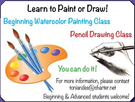 Learn to Paint or Draw! Beginning Watercolor Painting Class Pencil Drawing Class You can do