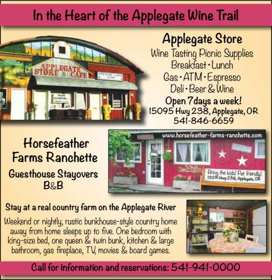 In the Heart of the Applegate Wine Trail Applegate Store Wine Tasting Picnic Supplies Breakfast