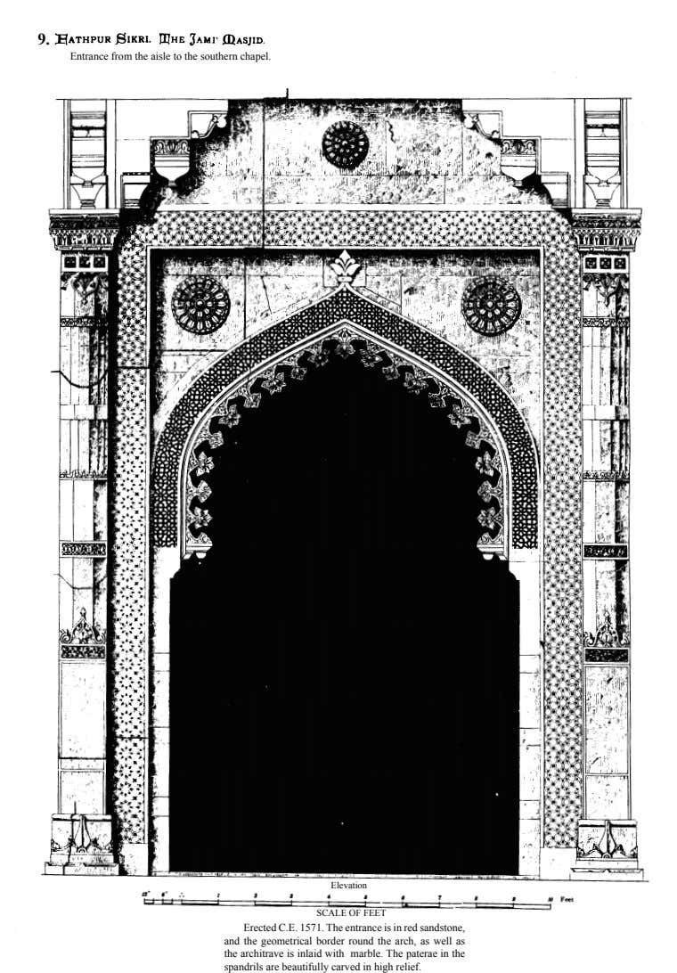 9. Entrance from the aisle to the southern chapel. Elevation SCaLE of fEET Erected C.E.