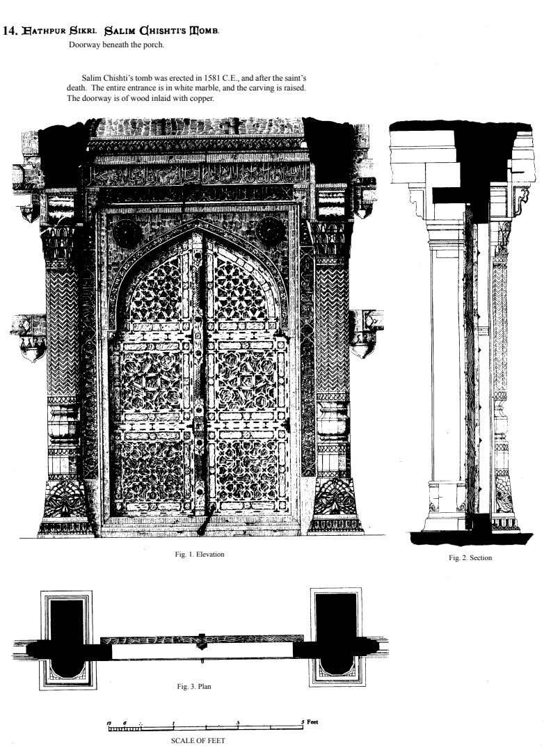 14. Doorway beneath the porch. Salim Chishti's tomb was erected in 1581 C.E., and after