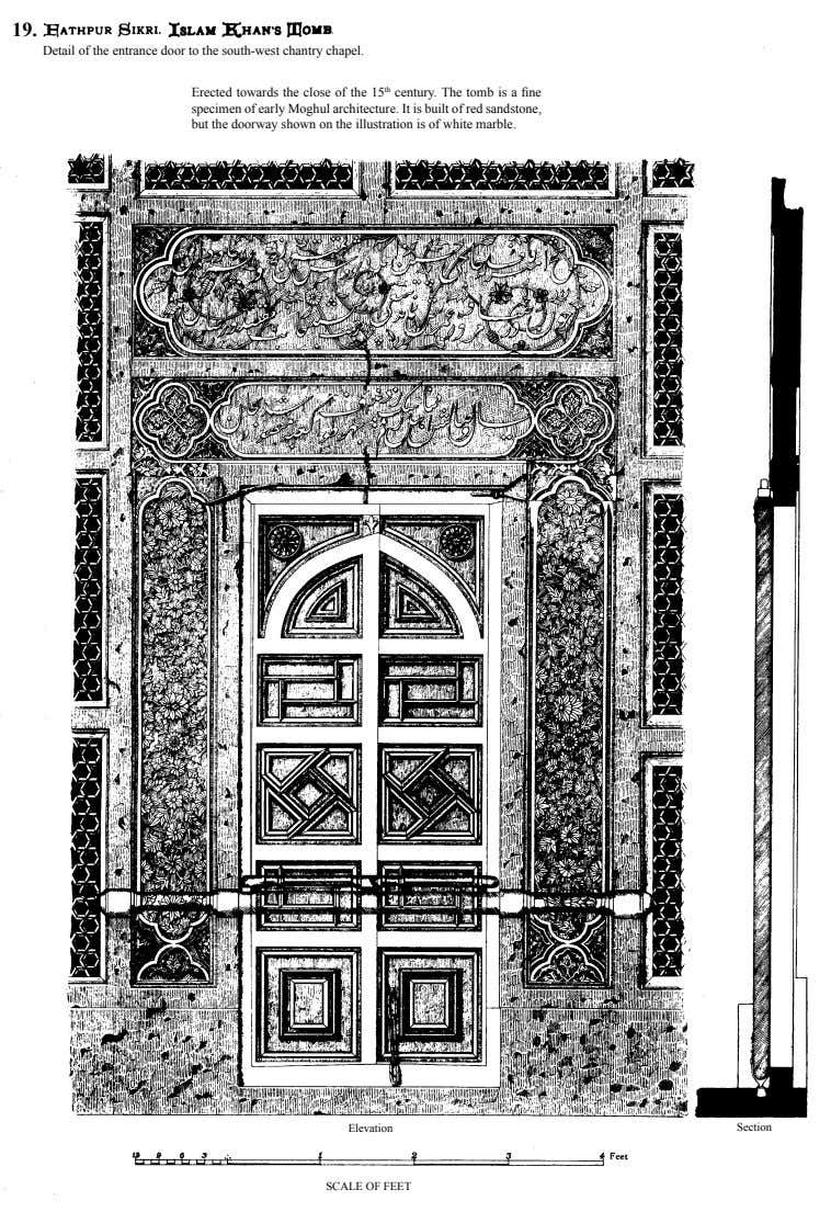 19. Detail of the entrance door to the south-west chantry chapel. Erected towards the close