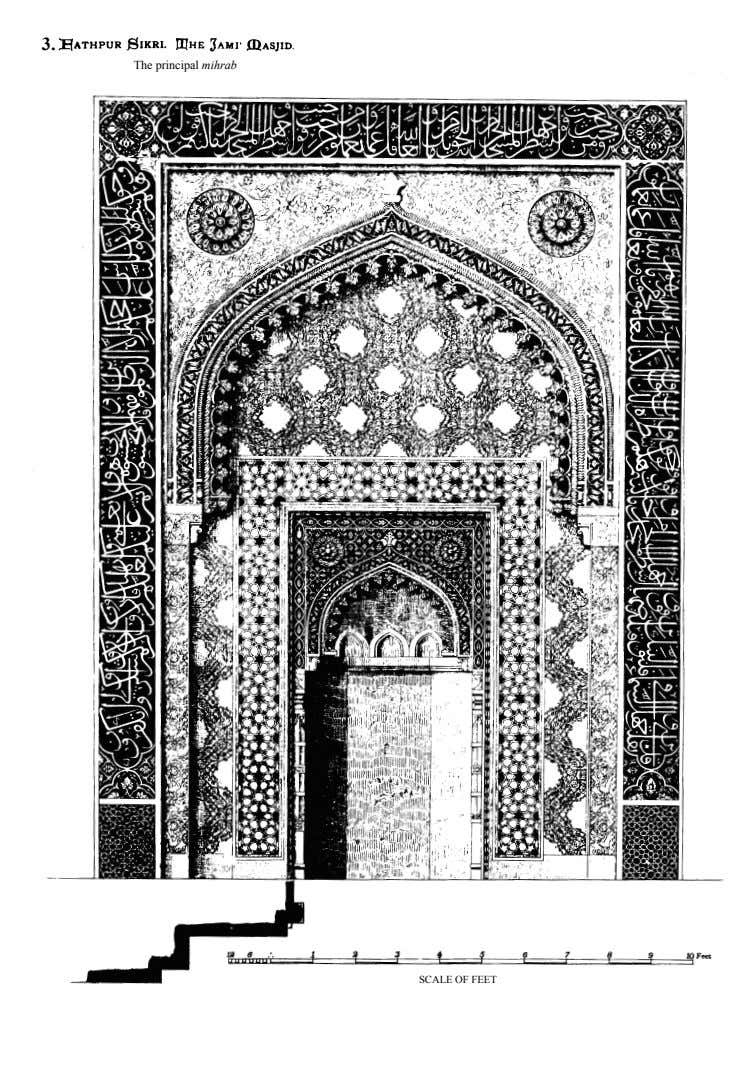 3. The principal mihrab SCaLE of fEET