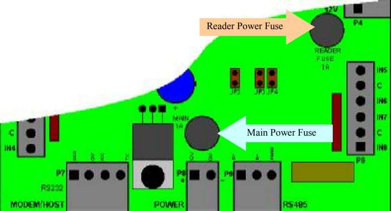Reader Power Fuse Main Power Fuse
