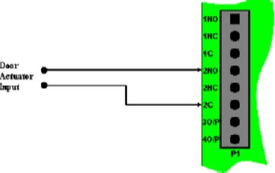 & Output Connections Handicap Output Connection Diagram If this output is used with an inductive load,