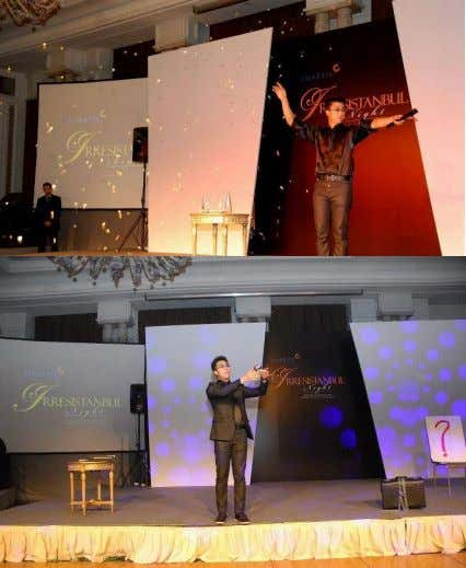 hotel – theCiragan Palace located in Kempinski. There he performed for an international audience of 1000