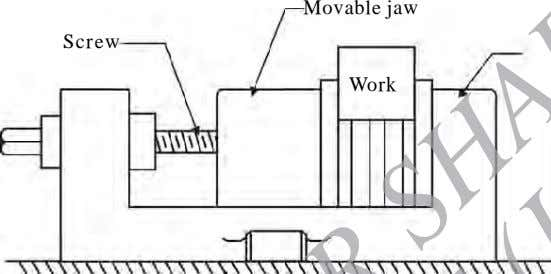 Movable jaw Screw Work