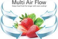 Multi Air Flow Keeps food fresh for longer with even cooling!