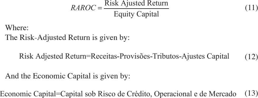 (11) Where: The Risk-Adjusted Return is given by: (12) And the Economic Capital is given