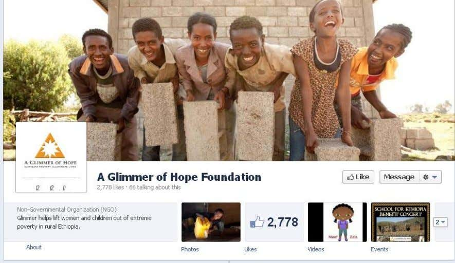 Why is their Social Media effective? Facebook : 2,751 likes Status updates: A Glimmer of Hope