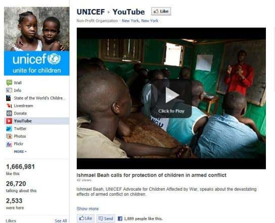 : Social Media Report & Analysis The Tesfa Foundation Example of how UNICEF links to other