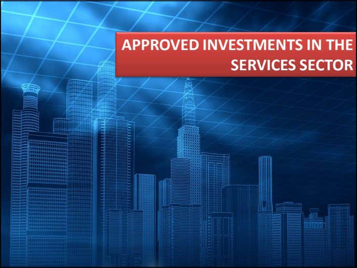 APPROVED INVESTMENTS IN THE SERVICES SECTOR